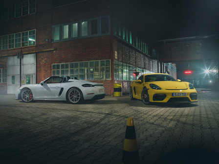 718 Spyder and 718 Cayman GT4
